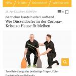 Düsseldorfer bleiben zu Hause fit